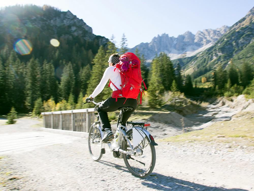 E-Bike im Karwendel