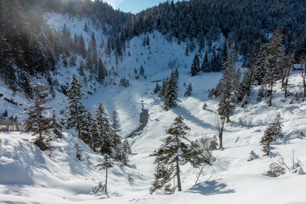 Winter in Krün - an der Finzalm